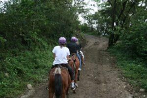 Riding horses in Costa Rica