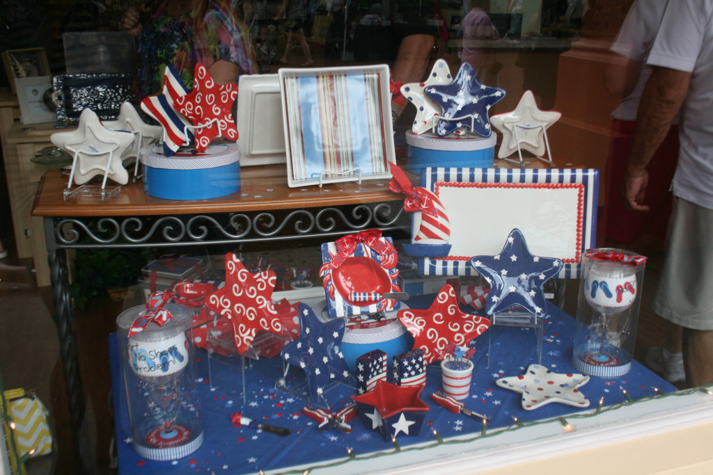 Celebration shop window