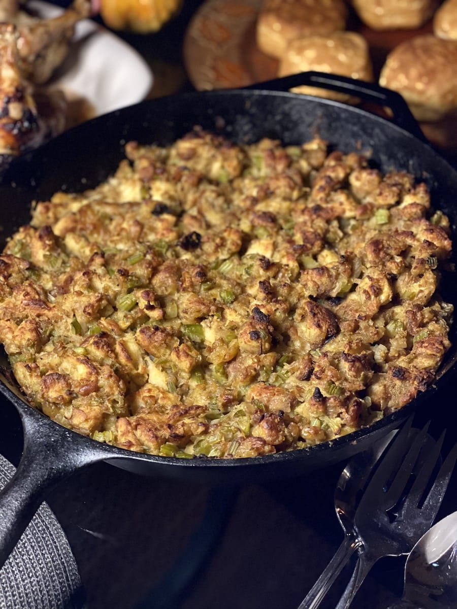 Mom's stuffing brown on top