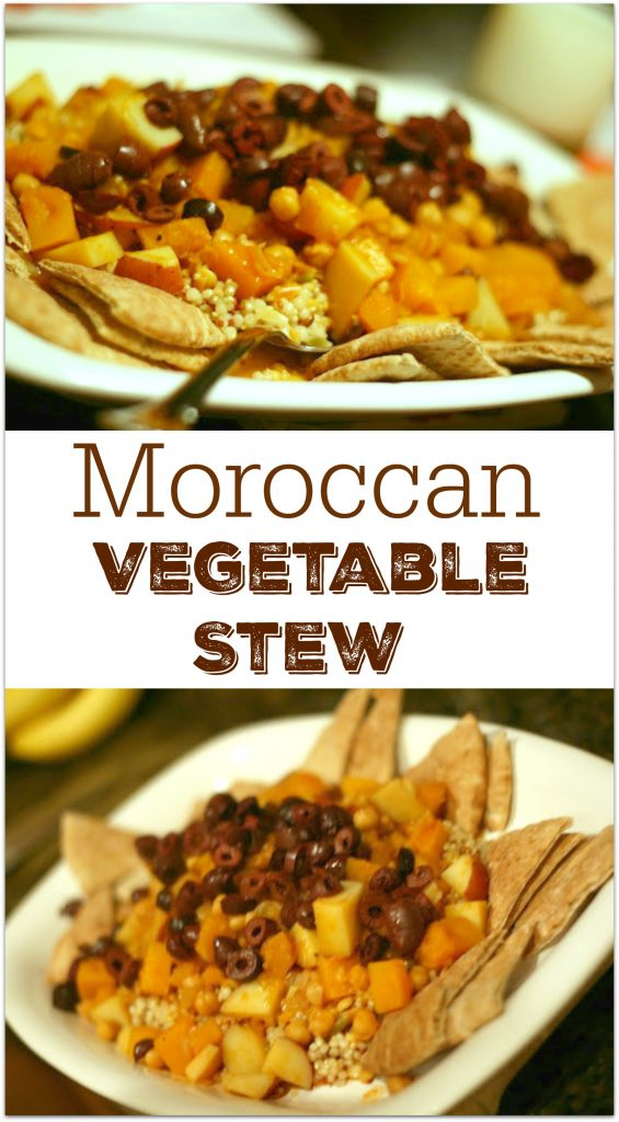 Once you make this Moroccan Vegetable Stew, you will want to add it to your monthly rotation. Having a no meat day once or twice a week is a healthy way to eat for everyone.