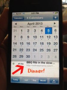 Pinterest and Google Calendar make dinner a snap!