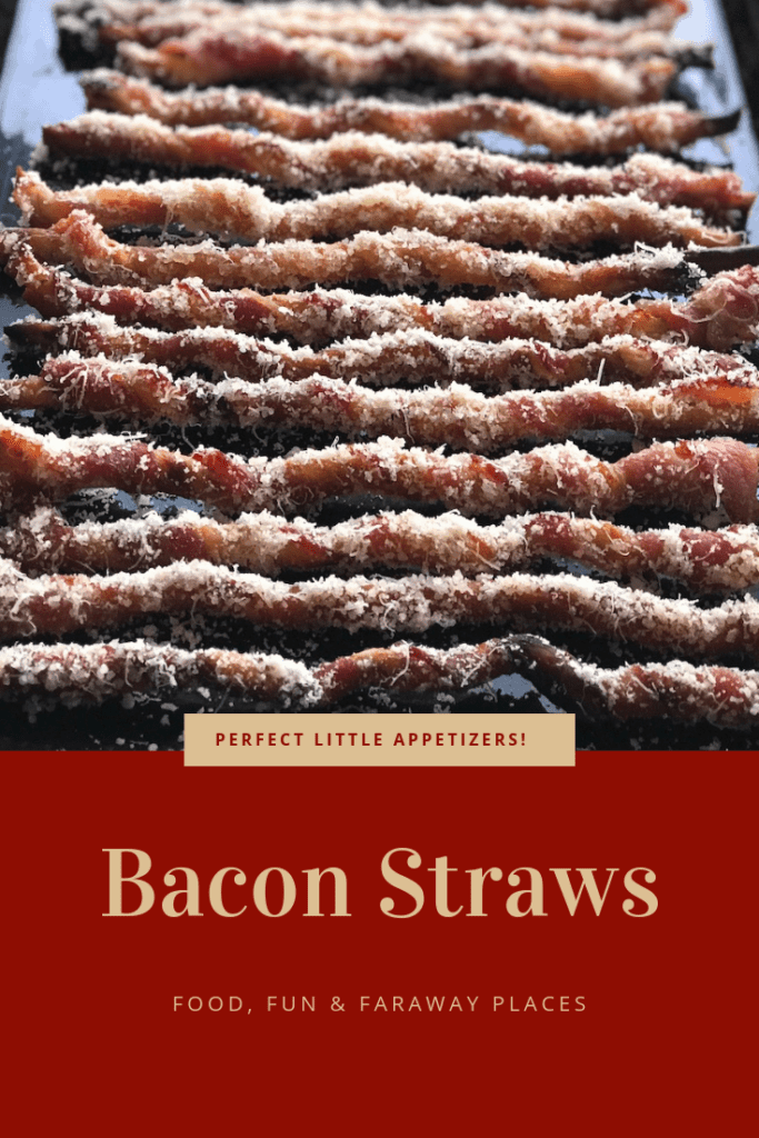 Who wouldn't love bacon straws? Perfectly crisp bacon wrapped around a thin rosemary breadstick is the best idea ever! #Bacon #BaconAppeitzers #Baconbreadsticks