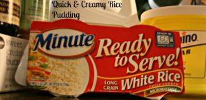Quick & Creamy Rice Pudding