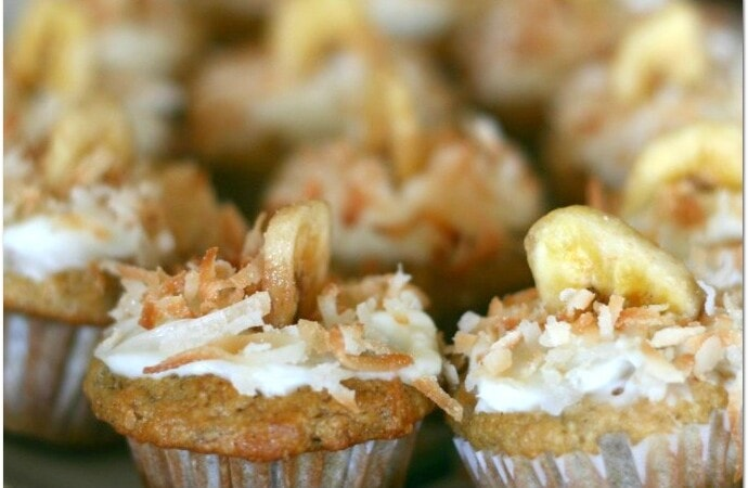 I make banana nut bread for my family now and then, but I wanted to make something a little different. I woke up in the middle of night about a week ago thinking, Banana Muffins with Coconut! I kid you not! I know, it's weird. Don't judge me.