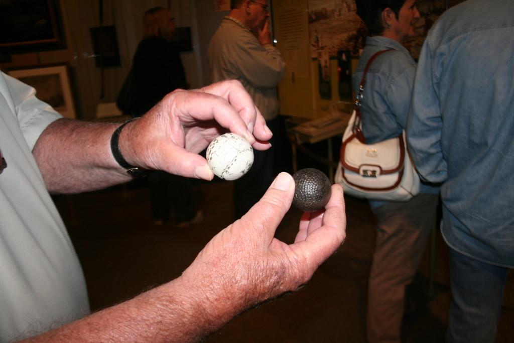 The first golf balls