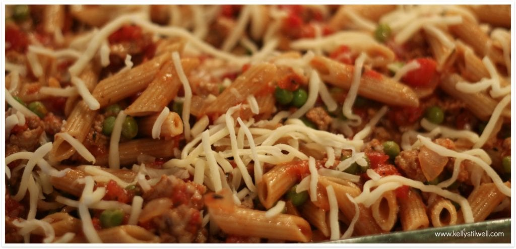 penne with tomatoes and turkey sausage