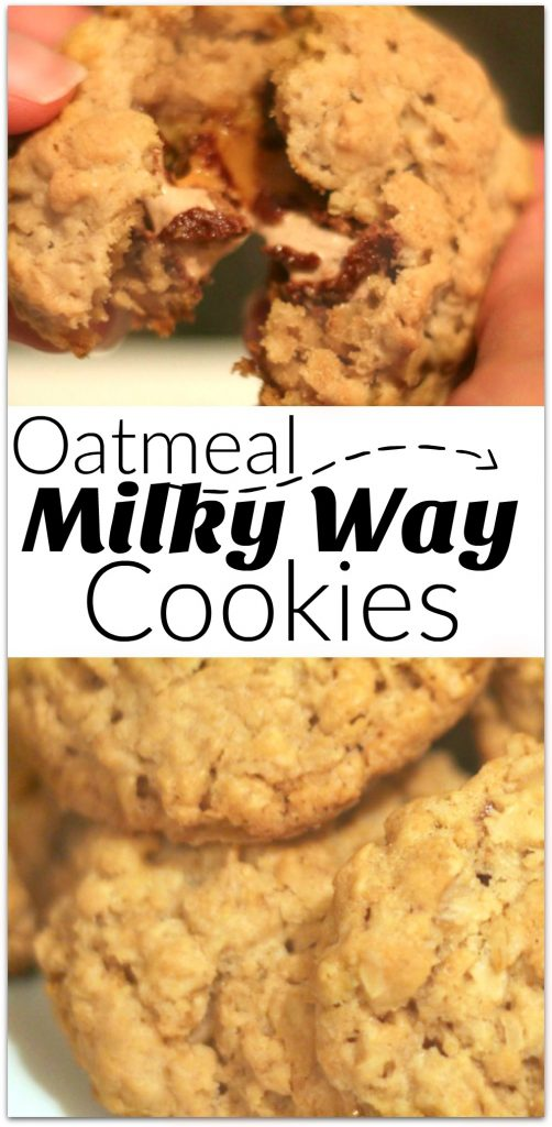 These oatmeal milky way cookies are unbelievable scrumptious! With a slightly crisp outside and delicious gooey inside, this will be your Game Day dessert!