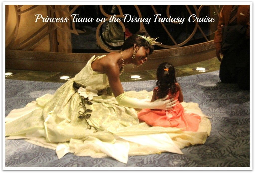Princess Tiana was on the Disney Fantasy Cruise along with many other Disney characters. Loved this ship and cruise line!