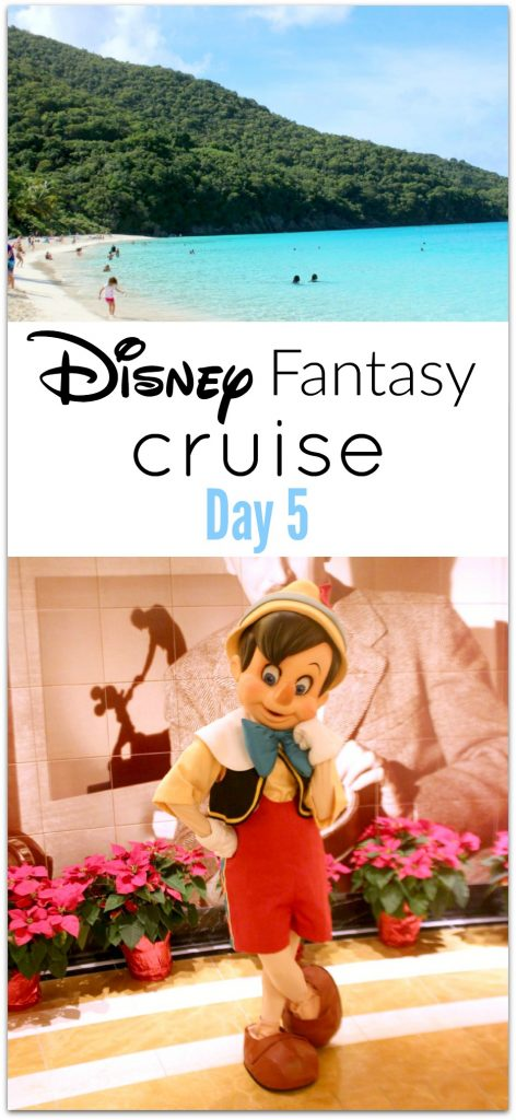 Day Five on the Disney Fantasy Cruise was another port day, and we were visiting St. John and St. Thomas. My husband and I have visited St. Thomas twice, and St. John once. Our favorite was St. John as we love to snorkel, and so do our kids