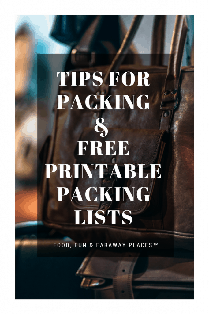 tips for vacation packing free printable vacation packing lists