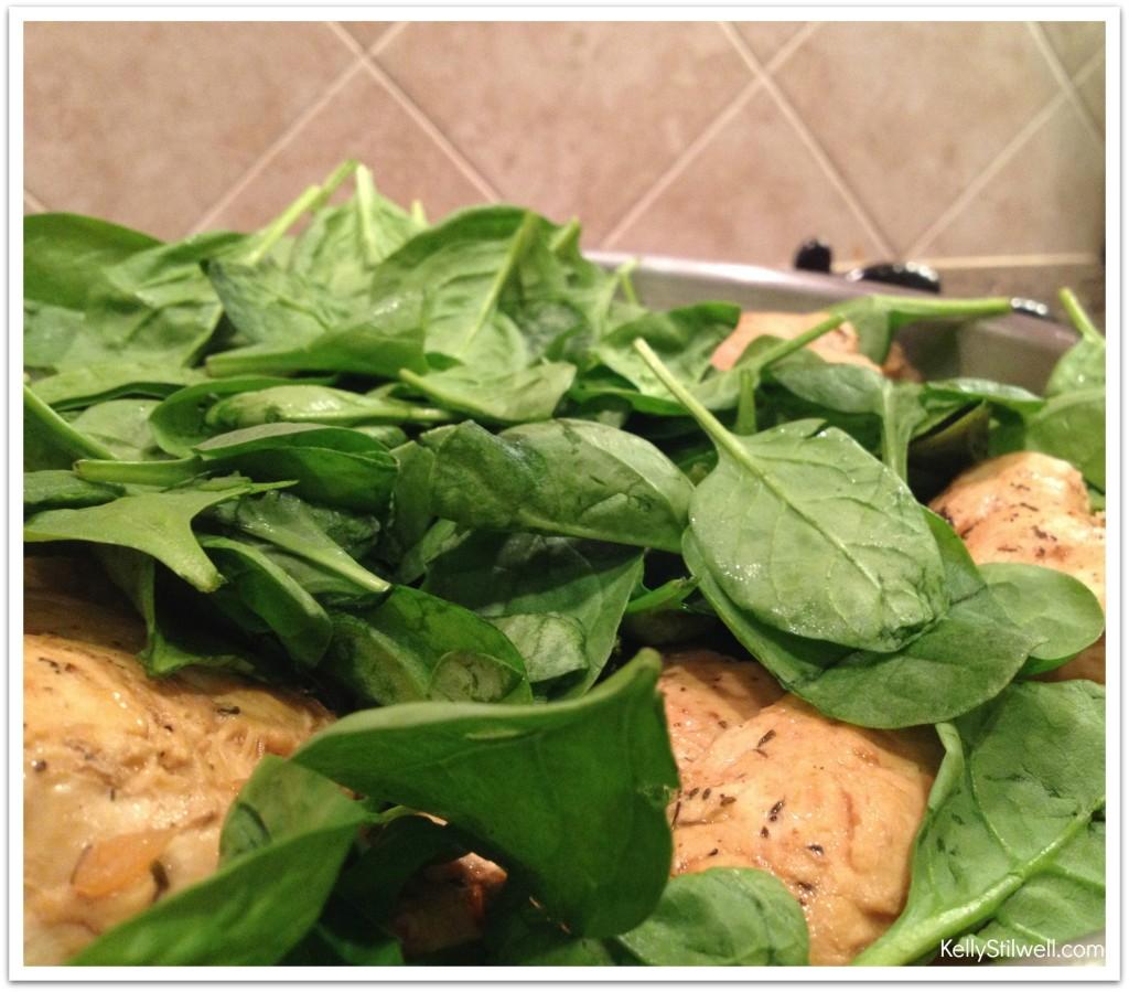 Chicken breast baby spinach recipe