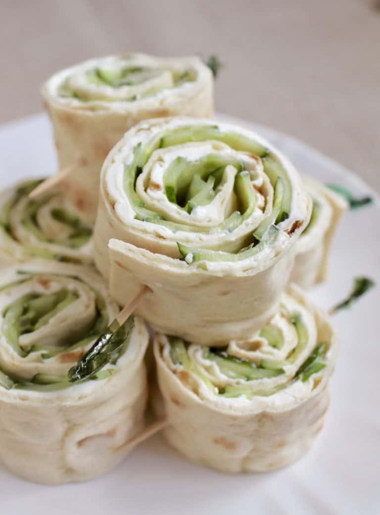 cucumber sandwich rolls