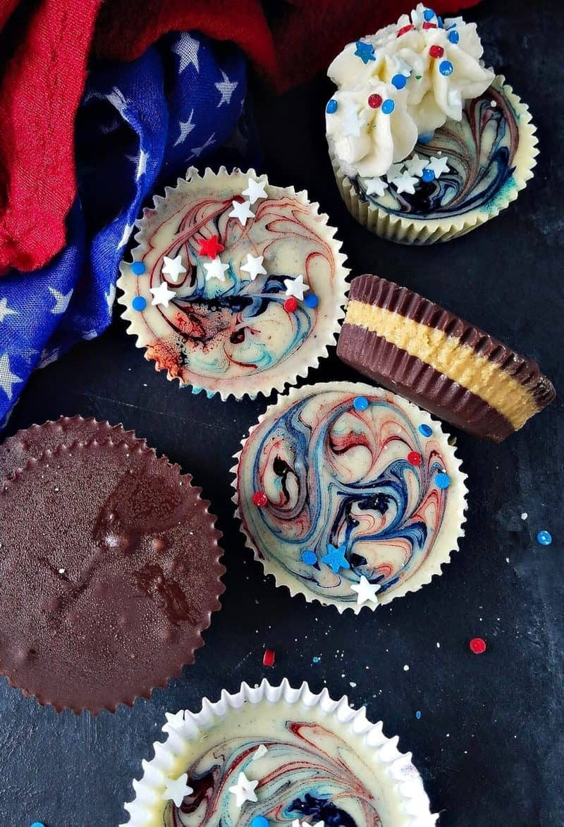peanut butter cups with red, white, and blue stars