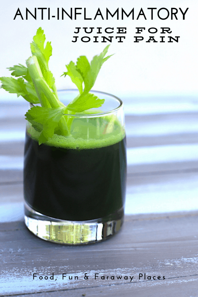 Looking for an all-natural anti-inflammatory juice? This 3 ingredient juice may help with your joint pain.