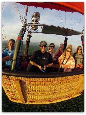 Orlando balloon adventures hot air balloon in air