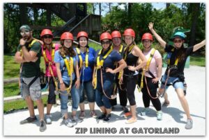 Zip Lining at Gatorland! #RockYourVacation