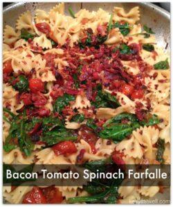 Bacon, Spinach & Tomato Farfalle