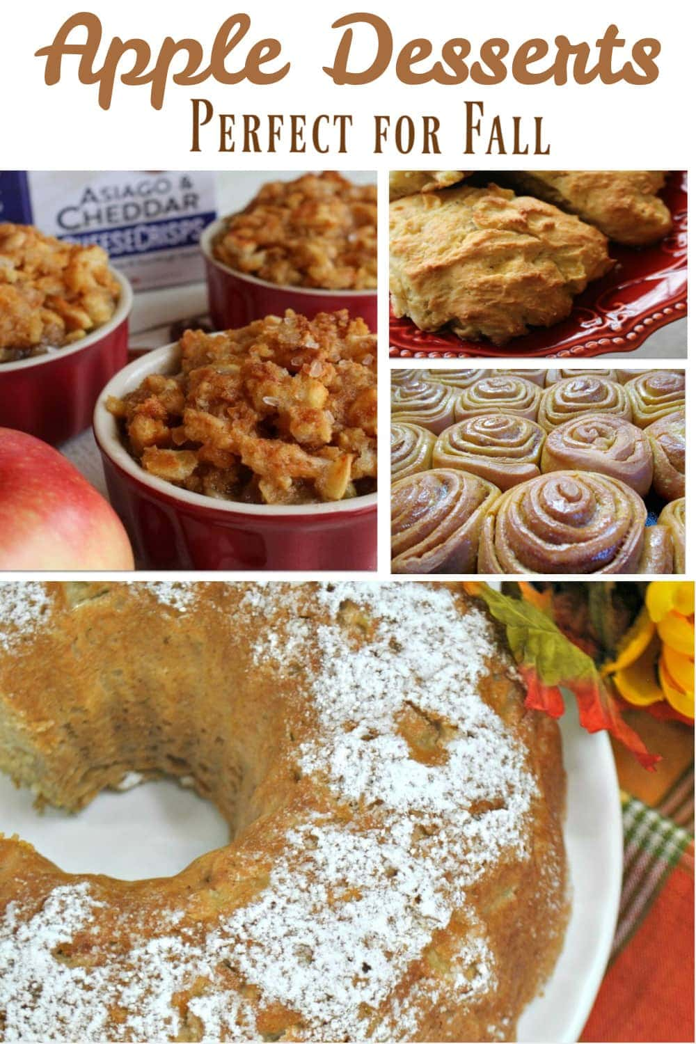 apple recipes graphic for Pinterest