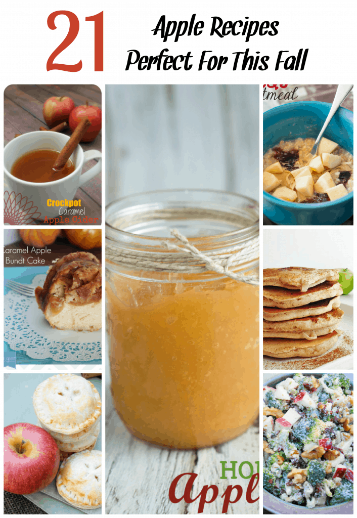 You are going to love these apple recipes! When fall rolls around it's time for apple picking.