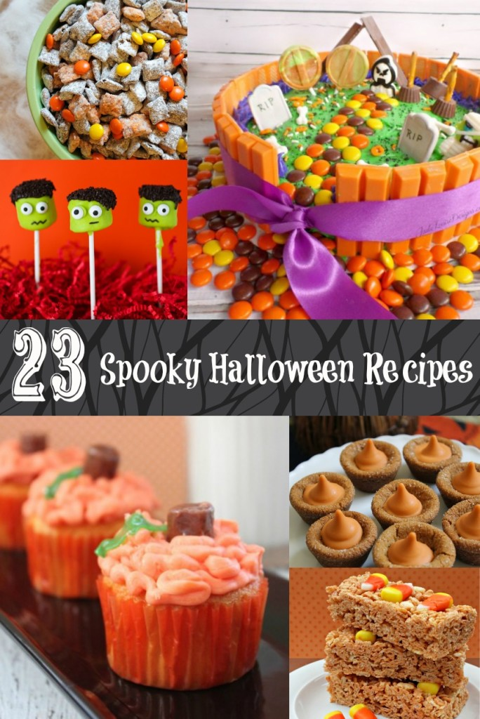My kids love holidays, and making Halloween snacks for a party that are just a little spooky is always fun! The flavors of these fall treats bring in the season, and these 23 Halloween snacks are all pretty easy to prepare, too! #Halloween #HalloweenTreats #HalloweenSnacks #HalloweenRecipes