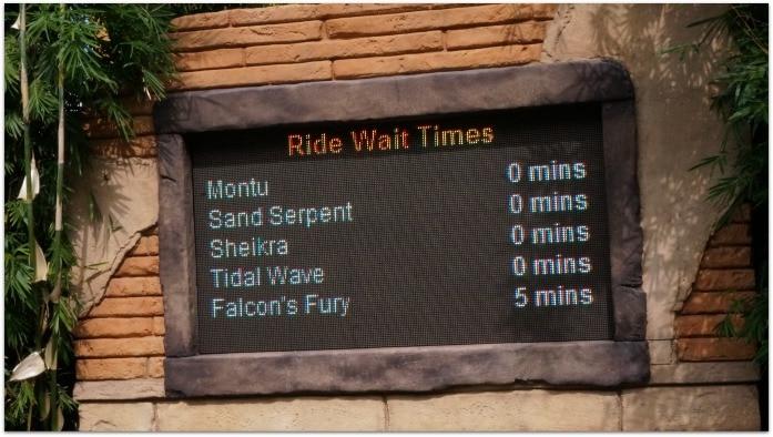 BG ride time sign