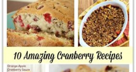 List of cranberry recipes graphic.