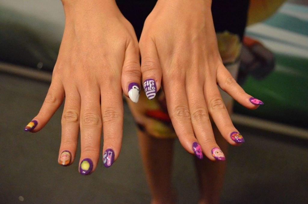 Genesis Rodriguez's nails