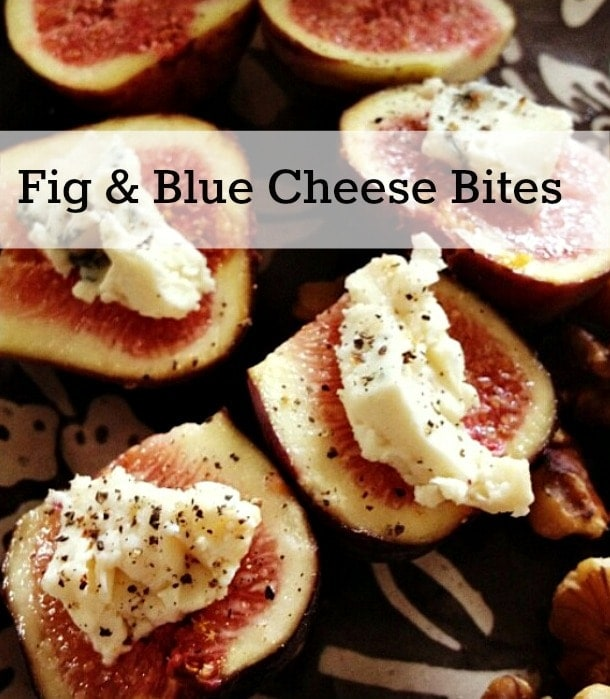 Fresh figs are one of my favorite foods, though they aren't always available. Pair them with blue cheese and you have a delicious appetizer! Add this to your easy recipes!