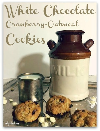 These white chocolate cranberry oatmeal cookies are one of my favorite recipes. Head to the kitchen and make some for your family tonight! They are delicious!