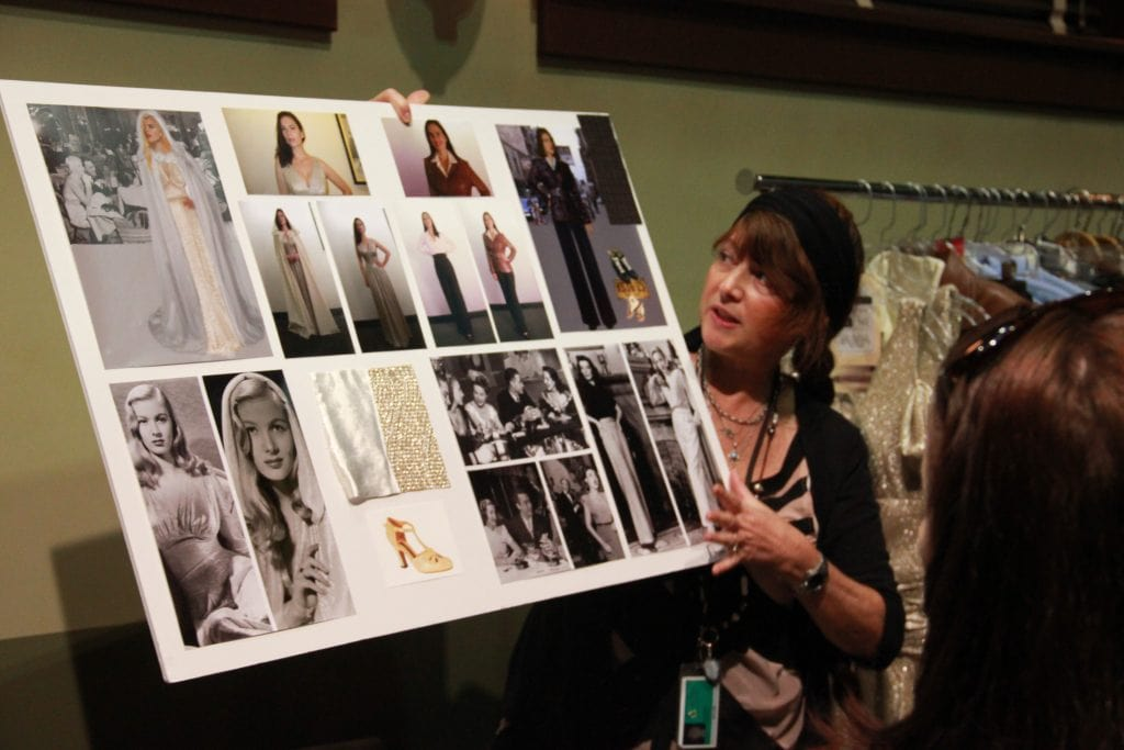 Gigi Melton is the designer behind the fabulous fashion on Agent Carter. Here she holds an idea board showing how she comes up with ideas for what Hayley Atwell and the rest of the cast will wear.