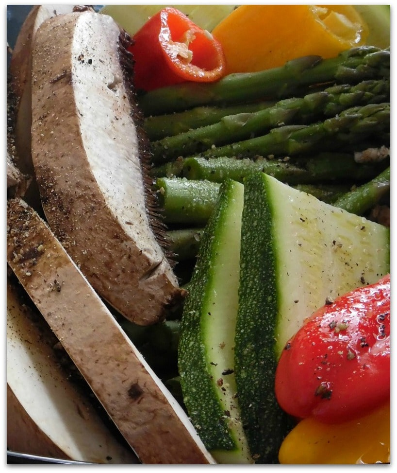 This Roasted vegetable tower is so delicious! You won't think about how healthy it is. Great vegetarian dish for a dinner party, and perfect for the Daniel Fast.