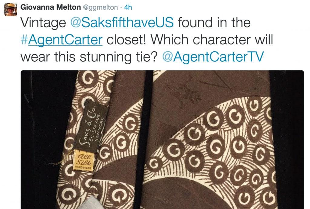 Vintage @SaksfifthaveUS found in the #AgentCarter closet!