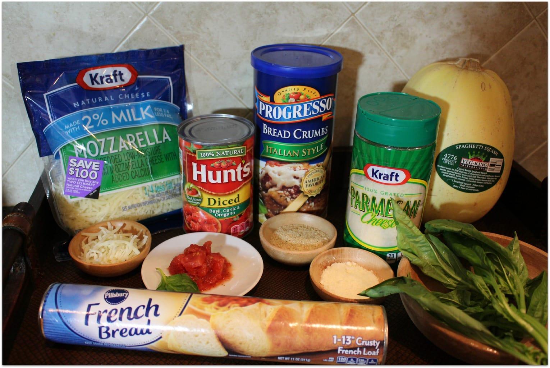 Chicken Parmesan ingredients