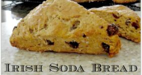 This recipe Irish Soda Bread Scones is perfect for St. Patrick's Day! Such a wonderful breakfast treat, but also the perfect food to have on hand for an afternoon snack.