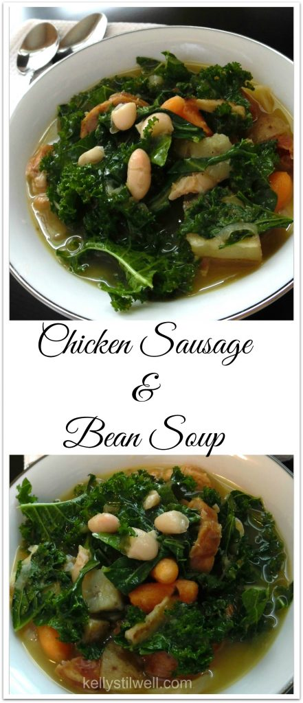 "Doesn't a bowl of hearty chicken sausage and bean soup just sound so good? When it's a cloudy, rainy, damp day here in the Sunshine State, I like to make a big batch of homemade soup. But not just any kind of soup; it has to be thick and hearty, it has to have a bunch of vegetables and beans, and I always make it with my one ""special ingredient"" to give it depth and amazing flavor… the rind from a large wedge of aged parmesan cheese."