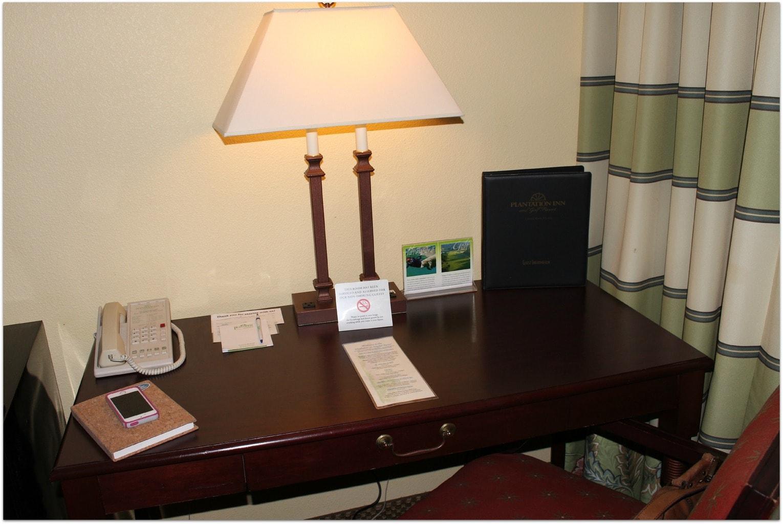citrus hotel room desk
