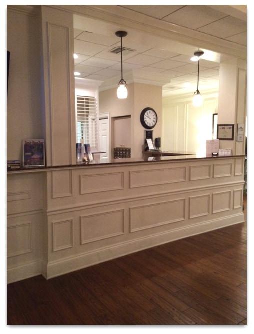 plantation lobby desk