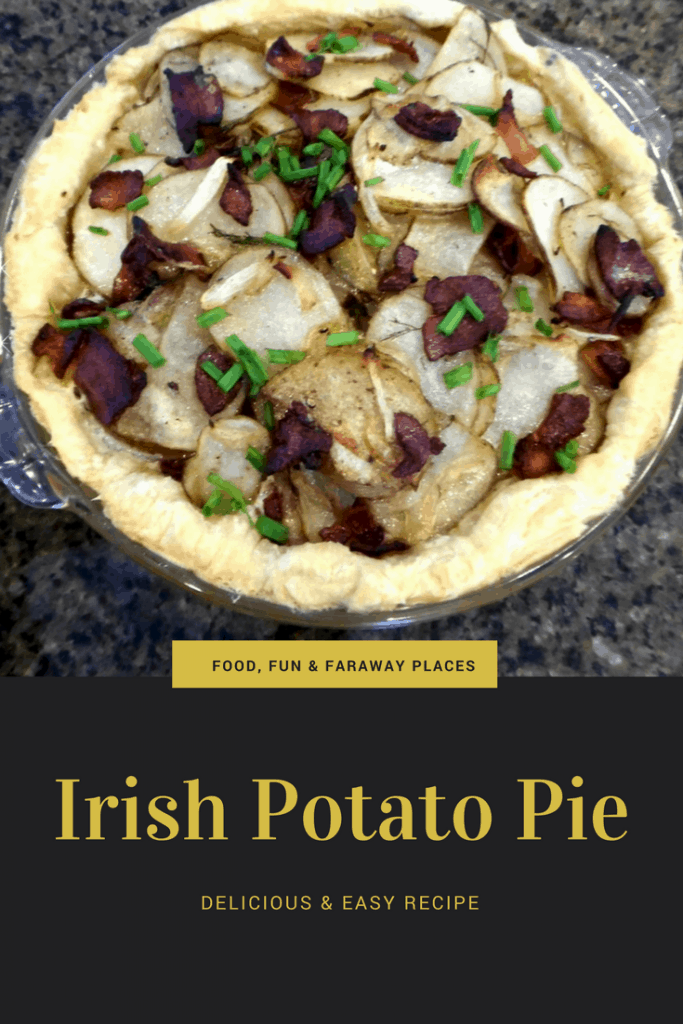 Have you ever had Irish Potato Pie? It makes a delicious side to just about any meal, whether steak, chicken, or seafood. It pairs well with entrees that are warming, comfort foods, as well as elegant, savory options.