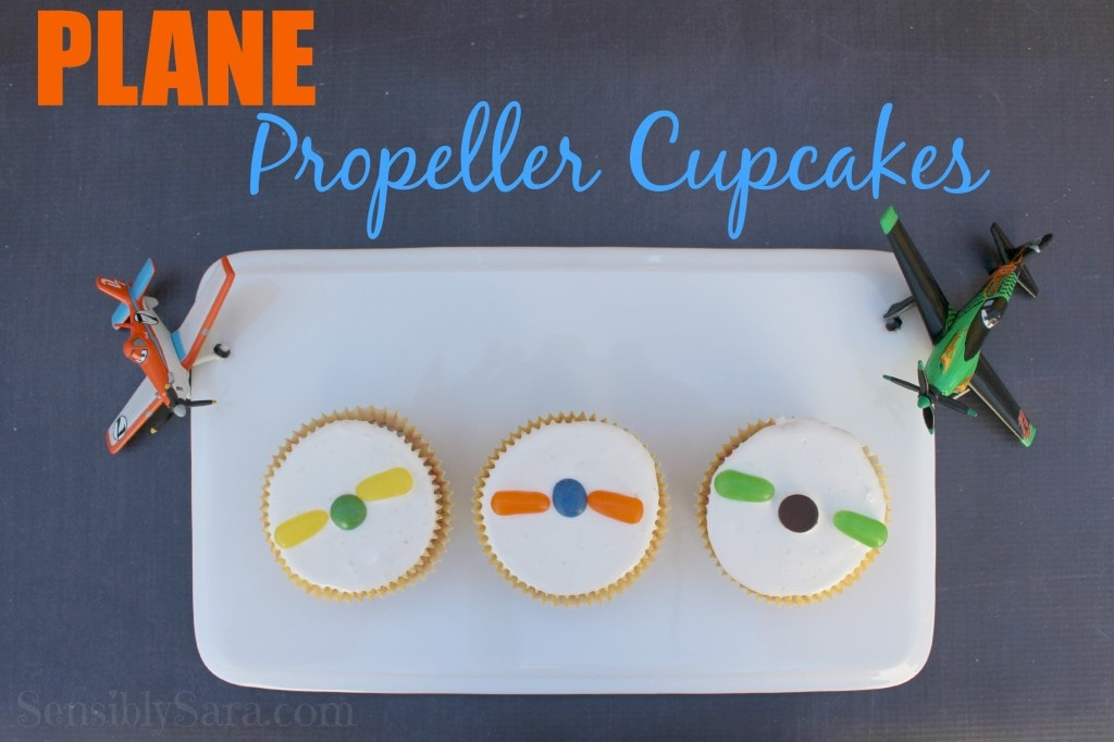 cupcakes with plan propellor on top