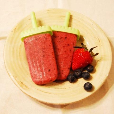 strawberry apple ice pops