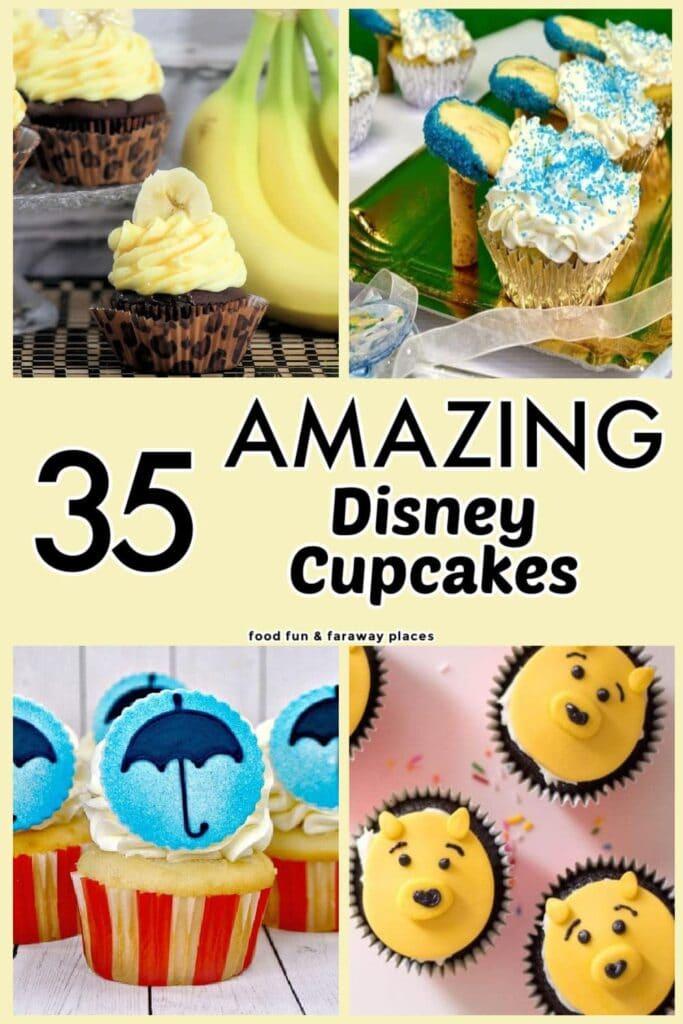 PInterest image for Disney Cupcakes