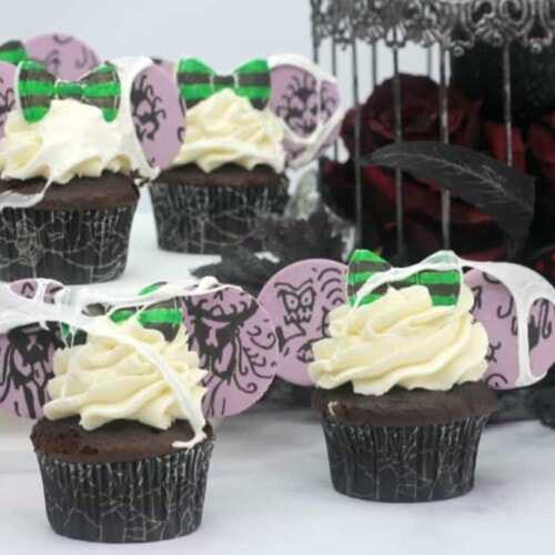 cupcakes decorated like the Haunted Mansion at Disneyland
