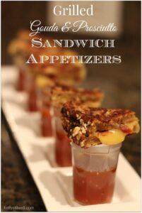 Grilled Gouda & Crispy Prosciutto Sandwich Appetizers