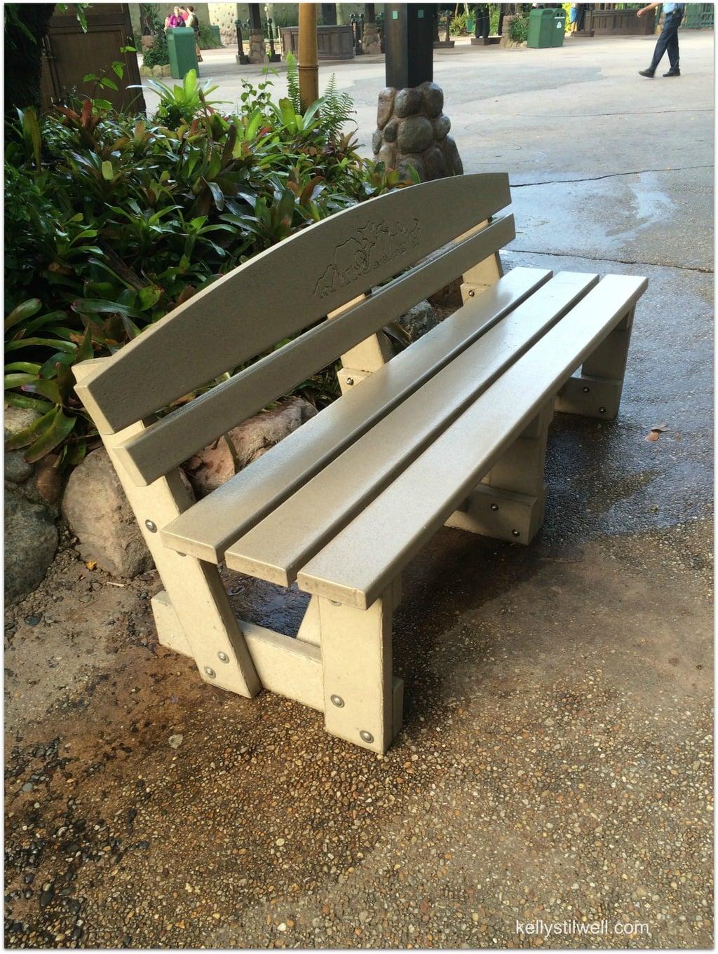 backstage bench
