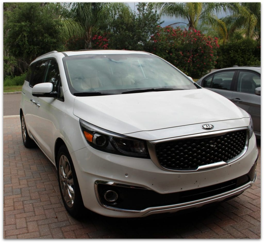 The Kia Sedona is an amazing high-tech minivan. With seating for 7, plenty of leg room, and an extremely spacious interior, this is the perfect vehicle for a family with kids.