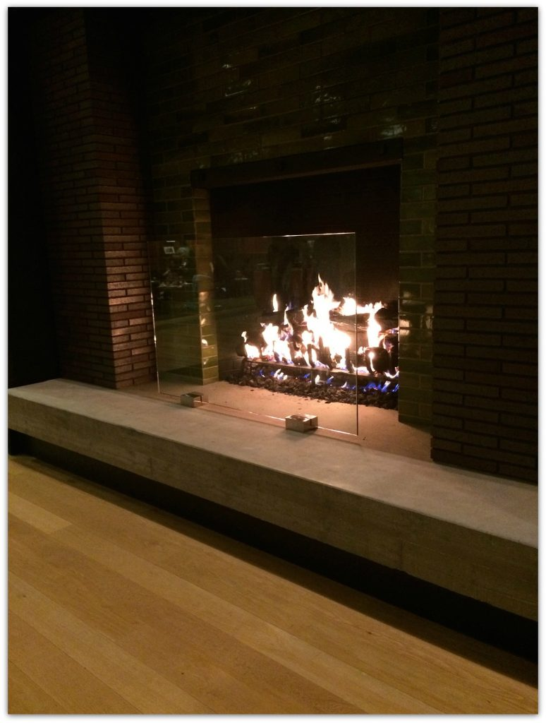 Pixar is such a comfortable place to work, with many gathering places, including this one with the fireplace.