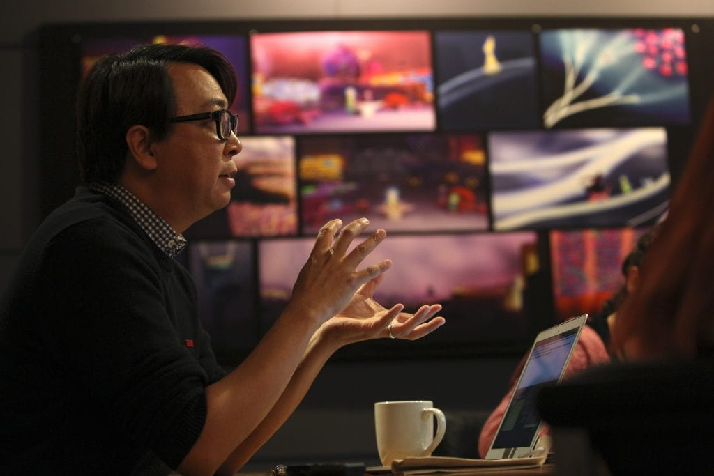 Director of Photography - Camera Patrick Lin, at Pixar Animation Studios in Emeryville, Calif. (Photo by Deborah Coleman / Pixar)