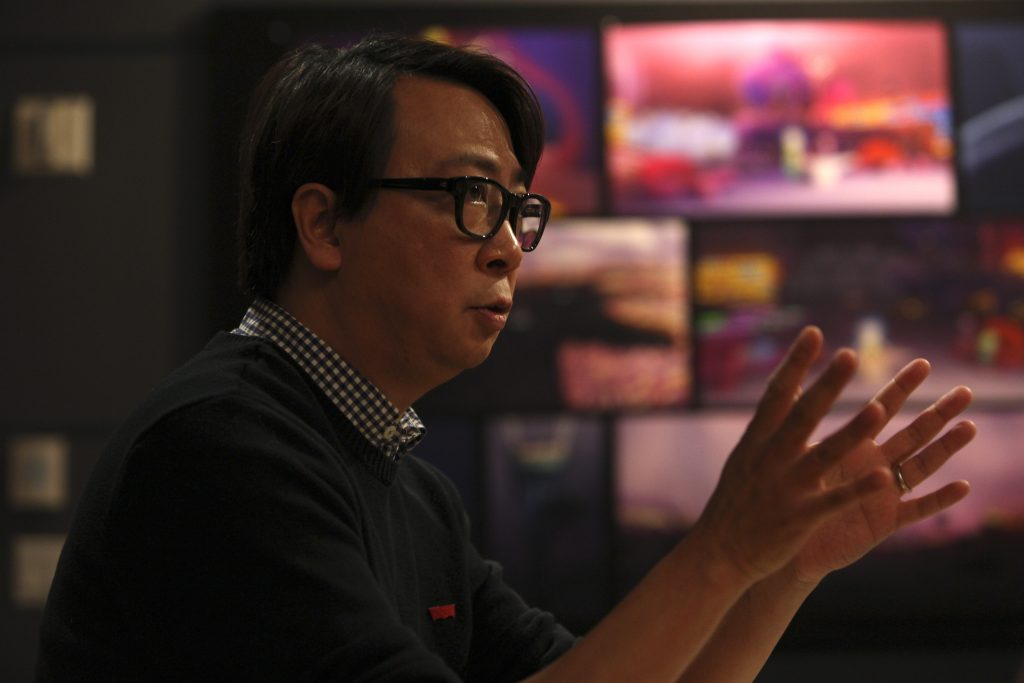 "The ""Inside Out"" Long Lead Press Day, including presentations by Director of Photography - Camera Patrick Lin, as seen on March 31, 2015 at Pixar Animation Studios in Emeryville, Calif. (Photo by Deborah Coleman / Pixar)"