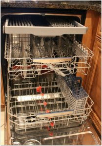 New technology makes the samsung WaterWall Dishwasher so efficient and quiet!