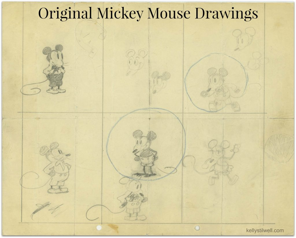 Walt disney museum mickey drawings